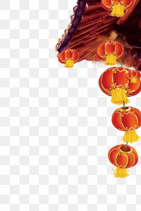 Chinese New Year Lantern Under The Eaves - Poster New Years Day Chinese New Year PNG
