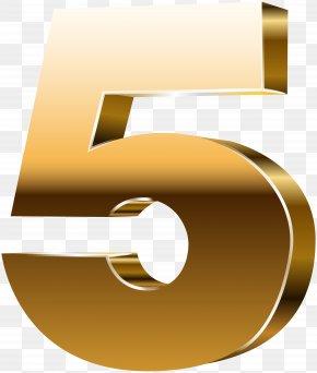 Number Five 3D Gold Clip Art Image - Number 3D Computer Graphics Clip Art PNG