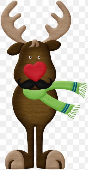Reindeer - Reindeer Santa Claus Christmas Ornament Rudolph Clip Art PNG