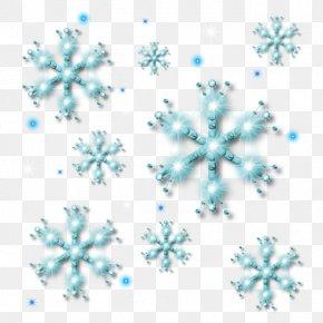 Blue Snowflakes - Snowflake Icon PNG