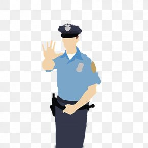 Police Officer's Prohibited Gesture - Police Officer Army Officer PNG