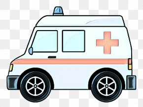 Electric Vehicle Law Enforcement - Ambulance Cartoon PNG