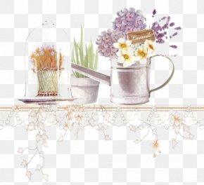 Pots On The Table - Floral Design Designer Purple PNG