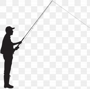 Fisherman Silhouette Clip Art Image - Fisherman Silhouette Fishing Clip Art PNG