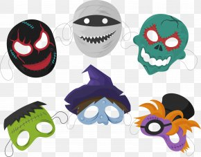 6 Creative Halloween Mask Vector - Halloween Mask Euclidean Vector PNG