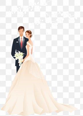 Vector Bride And Groom Wedding - Microsoft PowerPoint Wedding Template Presentation Slide Show PNG