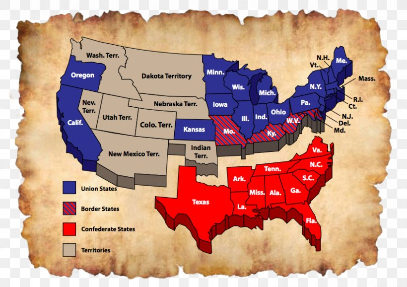 Southern United States Confederate States Of America Union ...