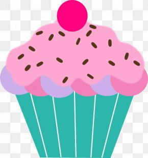 Pink Cupcake Pictures - Cupcake Muffin Birthday Cake Clip Art PNG