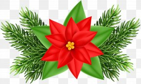 Christmas Poinsettia Deco Clip Art Image - Poinsettia Christmas Ornament Clip Art PNG