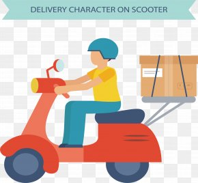 Motorcycle Express - Scooter Motorcycle Courier PNG