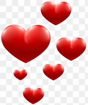 Red Hearts Transparent Image - Heart Paper PNG