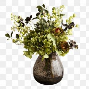 Vase - Floral Design Vase Glass Cut Flowers Abigail Ahern PNG