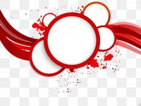 Red Circular Border - Red Circle Abstract Art Royalty-free PNG