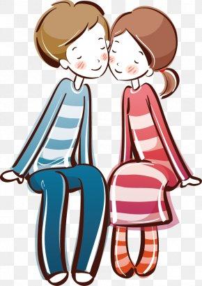 Cartoon Couple - Cartoon Drawing Couple Love Wallpaper PNG