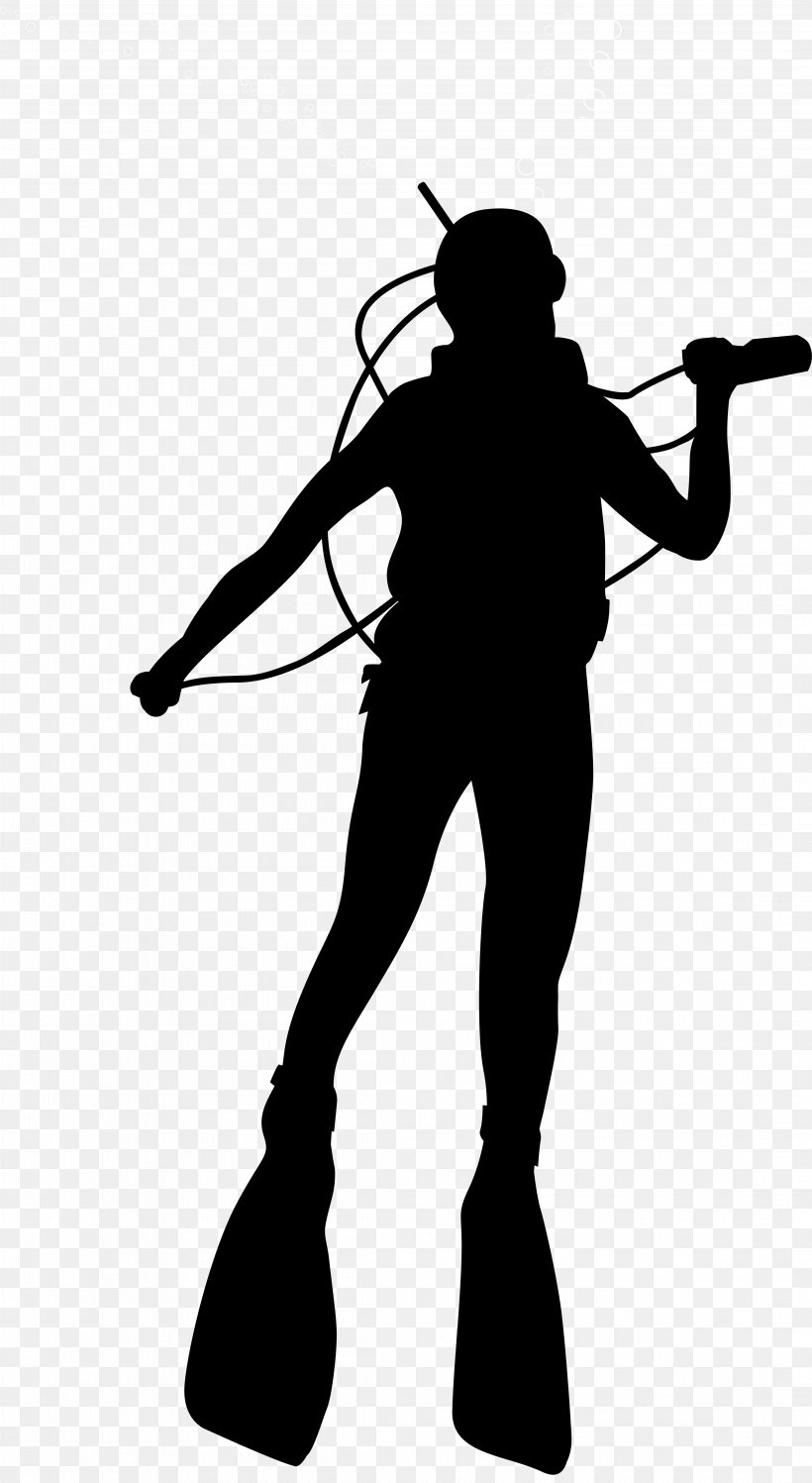 Scuba Diving Diver Down Flag Silhouette, PNG, 4381x8000px, Silhouette, Arm, Art, Audio, Black And White Download Free
