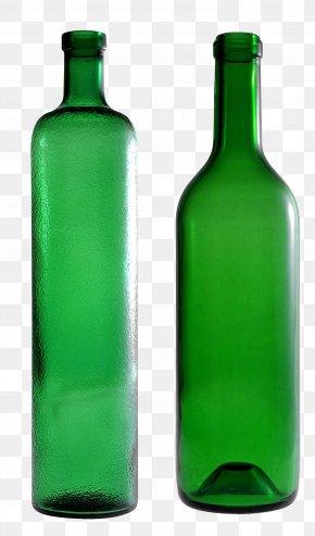 Empty Green Glass Bottle Image - Glass Bottle Clip Art PNG