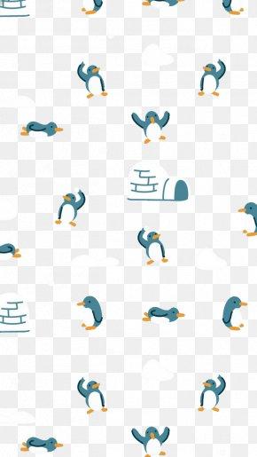 Cartoon Penguin Background - Paper Pattern PNG