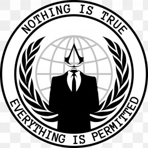 Anonymous - Anonymous Logo T-shirt Million Mask March PNG