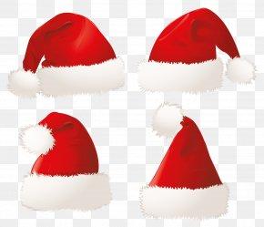 Hats - Santa Claus Christmas Hat Clip Art PNG