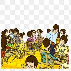 Cartoon Banquet - Cartoon Banquet Illustration PNG
