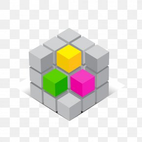 Color Cube Vector Material - Rubiks Cube Euclidean Vector Three-dimensional Space PNG