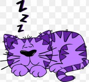 Purple Cartoon Cat - Siamese Cat Kitten Cartoon Clip Art PNG