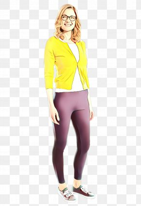 Trousers Outerwear - Clothing Yellow Leggings Tights Standing PNG