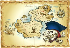 Treasure Map - Treasure Map Buried Treasure Piracy PNG