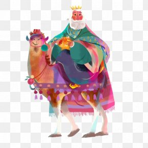 Camel Riding A Man - Camel Llama Cartoon Illustration PNG