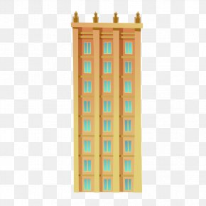 Golden Tower Building Pattern - Facade Architecture PNG