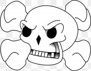 Skull Line Art - Skull And Bones Skull And Crossbones Clip Art PNG