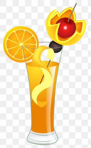 Orange Cocktail Clipart Picture - Fizzy Apple Cocktail Martini Juice Margarita PNG