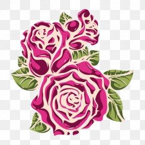Flower - Garden Roses Floral Design Watercolor Painting Cut Flowers Clip Art PNG