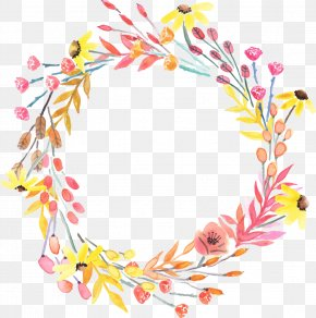 Vector Painted Garlands - Wreath Computer File PNG