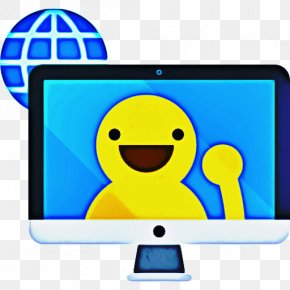 Smiley Computer Monitor Accessory - Computer Cartoon PNG