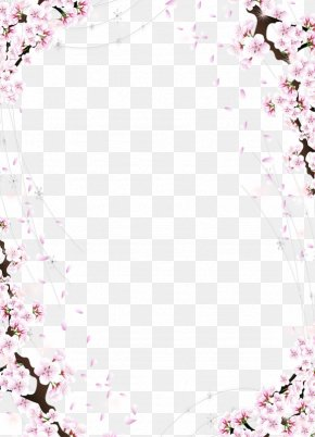 Peach Line Border - Picture Frame Drawing PNG