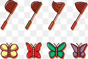 Creative Butterfly Butterfly Net - Butterfly Net Clip Art PNG