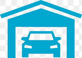 Electric Blue Turquoise - House Cartoon PNG