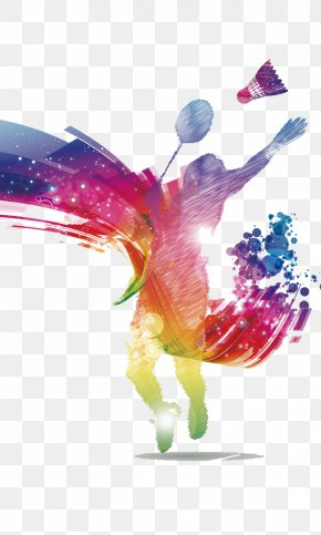 Badminton Poster Material - Badminton Poster Shuttlecock Racket PNG