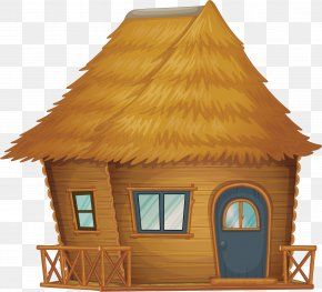 Raw Straw House - Nipa Hut Cartoon Clip Art PNG