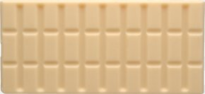White Chocolate Bar Image - Product Material Brown Rectangle PNG