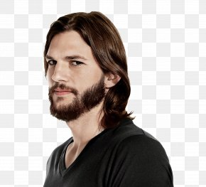 Beard And Moustache - Ashton Kutcher Two And A Half Men Male Actor Celebrity PNG