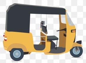 Auto Rickshaw Clipart - Auto Rickshaw Taxi Car PNG