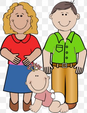 Dad Car Cliparts - Father Mother Daughter Child Clip Art PNG