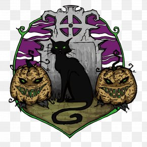 Vector Tombstone Before The Black Cat - The Black Cat Halloween PNG