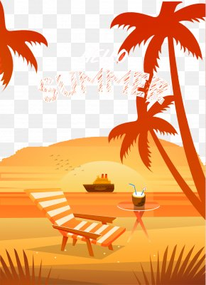 Creative Summer Beach Vacation - Beach Summer Vacation Illustration PNG