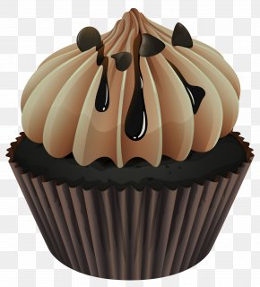 Black Chocolate Cake - Cupcake Muffin Icing Chocolate Clip Art PNG