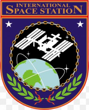 Cliparts Space Station - International Space Station Low Earth Orbit Insegna NASA PNG