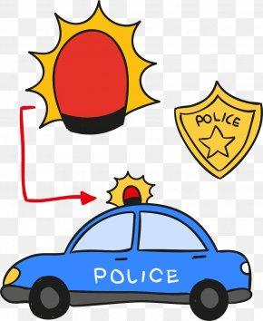 Police Car Lights Vector Elements - Police Car Euclidean Vector Icon PNG