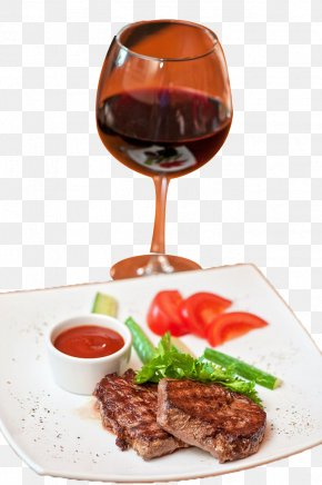 Steak Red Wine - Red Wine Roast Beef Beefsteak Barbecue Grill PNG